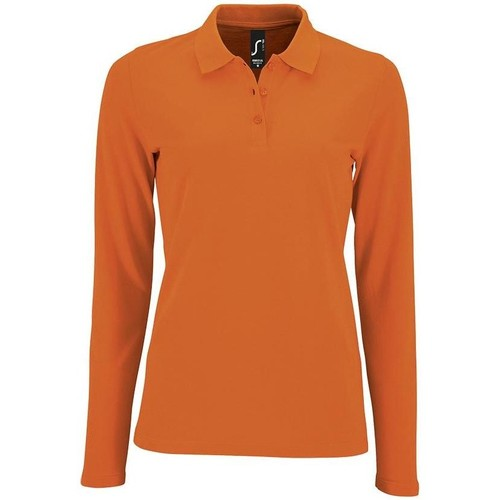 Textiel Dames Polo's lange mouwen Sols PERFECT LSL COLORS WOMEN Naranja