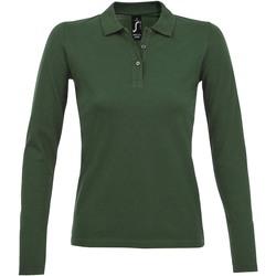 Textiel Dames Polo's lange mouwen Sols PERFECT LSL COLORS WOMEN Verde
