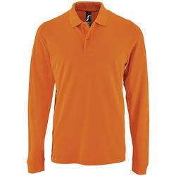 Textiel Heren Polo's lange mouwen Sols PERFECT LSL COLORS MEN Naranja