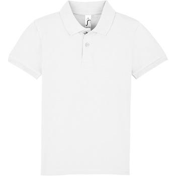 Textiel Kinderen Polo's korte mouwen Sols PERFECT KIDS COLORS Blanco