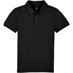 Textiel Kinderen Polo's korte mouwen Sols PERFECT KIDS COLORS Negro