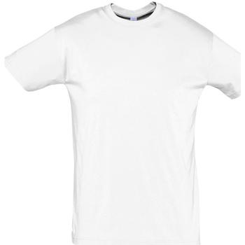 Textiel Heren T-shirts korte mouwen Sols REGENT COLORS MEN Blanco