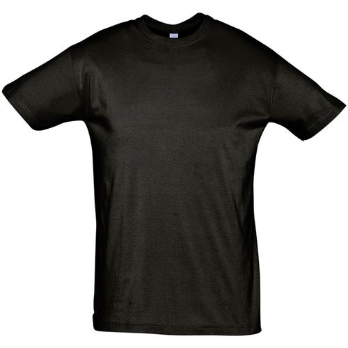Textiel Heren T-shirts korte mouwen Sols REGENT COLORS MEN Negro