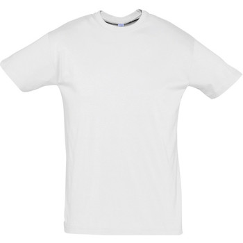 Textiel Heren T-shirts korte mouwen Sols REGENT COLORS MEN Blanco