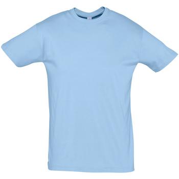 Textiel Heren T-shirts korte mouwen Sols REGENT COLORS MEN Azul