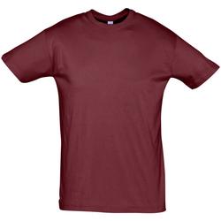 Textiel Heren T-shirts korte mouwen Sols REGENT COLORS MEN Burdeo