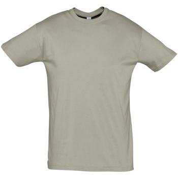 Textiel Heren T-shirts korte mouwen Sols REGENT COLORS MEN Kaki