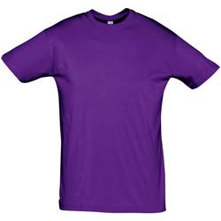 Textiel Heren T-shirts korte mouwen Sols REGENT COLORS MEN Violeta