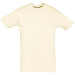 Textiel Heren T-shirts korte mouwen Sols REGENT COLORS MEN Beige