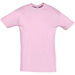 Textiel Heren T-shirts korte mouwen Sols REGENT COLORS MEN Rosa