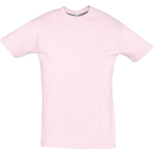 Textiel Heren T-shirts korte mouwen Sols REGENT COLORS MEN Rosa