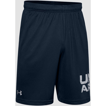 Textiel Heren Korte broeken / Bermuda's Under Armour Tech Wordmark Shorts Schwarz