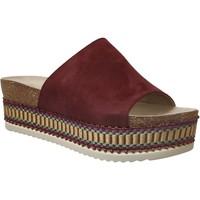 Schoenen Dames Leren slippers Bullboxer 886014f1t Bordeaux