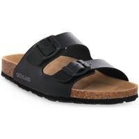 Schoenen Dames Leren slippers Grunland NERO 70SARA Nero