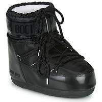 Schoenen Dames Snowboots Moon Boot MOON BOOT CLASSIC LOW GLANCE Zwart