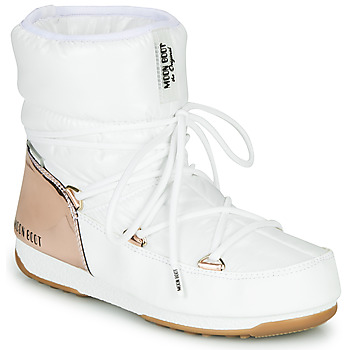 Schoenen Dames Snowboots Moon Boot MOON BOOT LOW ASPEN WP Wit