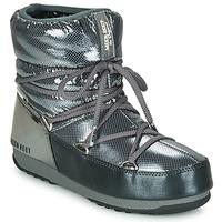 Schoenen Dames Snowboots Moon Boot MOON BOOT LOW SAINT MORITZ WP Grijs