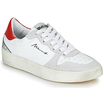 Schoenen Dames Lage sneakers Meline STRA5007 Wit / Rood