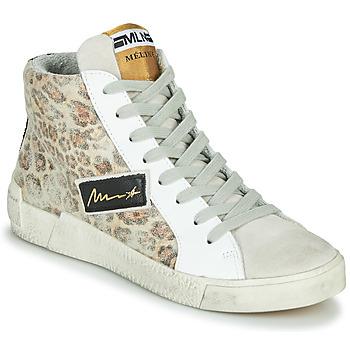 Schoenen Dames Hoge sneakers Meline NK5050 Beige / Luipaard