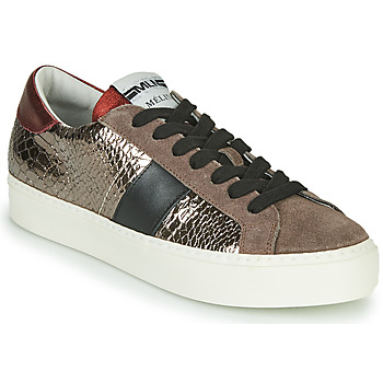 Schoenen Dames Lage sneakers Meline PL1810 Brons / Rood