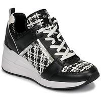 Schoenen Dames Lage sneakers MICHAEL Michael Kors GEORGIE TRAINER Zwart / Wit