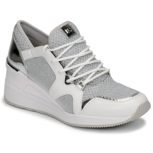 Schoenen Dames Lage sneakers MICHAEL Michael Kors LIV TRAINER Wit / Zilver