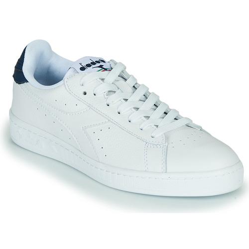 Schoenen Lage sneakers Diadora GAME L LOW OPTICAL Wit / Blauw