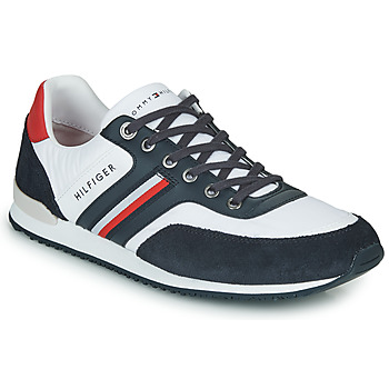 Schoenen Heren Lage sneakers Tommy Hilfiger ICONIC MATERIAL MIX RUNNER Wit / Blauw / Rood