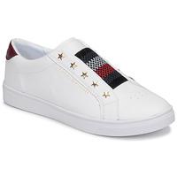 Schoenen Dames Lage sneakers Tommy Hilfiger TOMMY HILFIGER ELASTIC SLIP ON Wit