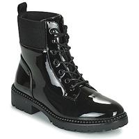 Schoenen Dames Laarzen Les Petites Bombes AMBELLINE Zwart