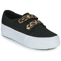 Schoenen Dames Hoge sneakers DC Shoes TRASE PLATEFORM V Zwart / Luipaard