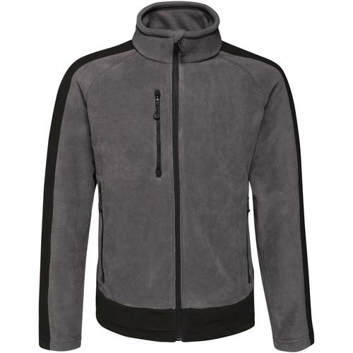 Textiel Heren Fleece Regatta RG662 Zeehond / Zwart