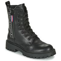 Schoenen Kinderen Laarzen Tommy Hilfiger  Zwart
