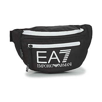Tassen Heuptassen Emporio Armani EA7 TRAIN CORE U SLING BAG Zwart / Wit