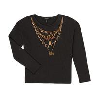 Textiel Meisjes T-shirts met lange mouwen Ikks XR10122 Zwart