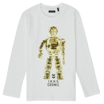Textiel Jongens T-shirts met lange mouwen Ikks XR10233 Wit