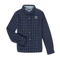 Textiel Jongens Overhemden lange mouwen Ikks XR12123 Blauw