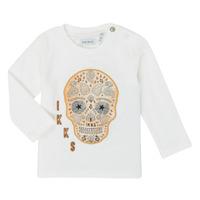 Textiel Jongens T-shirts met lange mouwen Ikks XR10141 Wit