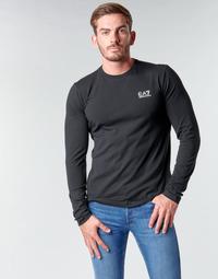 Textiel Heren T-shirts met lange mouwen Emporio Armani EA7 TRAIN CORE ID M TEE LS ST Zwart / Logo / Wit