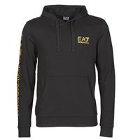 Textiel Heren Sweaters / Sweatshirts Emporio Armani EA7 TRAIN LOGO SERIES M HOODIE RN COFT Zwart