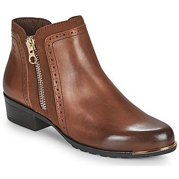Schoenen Dames Laarzen Caprice  Cognac