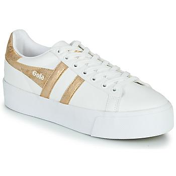 Schoenen Dames Lage sneakers Gola ORCHID PLATEFORM Wit / Goud