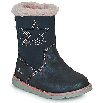 Schoenen Meisjes Hoge laarzen Tom Tailor 72307-BLEU Blauw