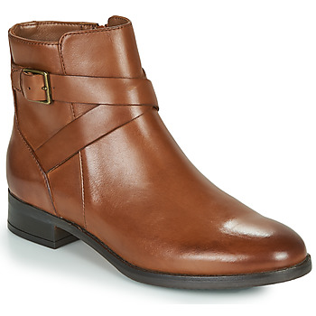 Schoenen Dames Laarzen Clarks HAMBLE BUCKLE Bruin