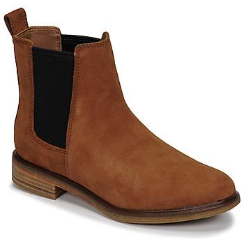Schoenen Dames Laarzen Clarks CLARKDALE ARLO Camel