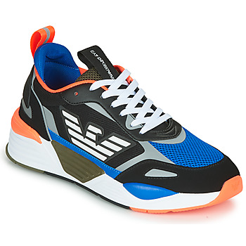 Schoenen Heren Lage sneakers Emporio Armani EA7 XK165 Zwart / Blauw / Oranje
