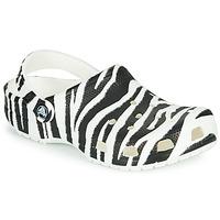 Schoenen Dames Klompen Crocs CLASSIC ANIMAL PRINT CLOG Zebra
