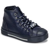 Schoenen Kinderen Hoge sneakers Emporio Armani XYZ004-XOI25 Marine