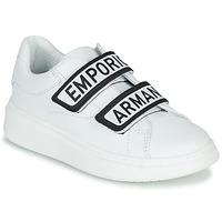 Schoenen Kinderen Lage sneakers Emporio Armani XYX007-XCC70 Wit / Zwart