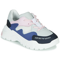 Schoenen Jongens Lage sneakers Emporio Armani XYX008-XOI34 Wit / Blauw